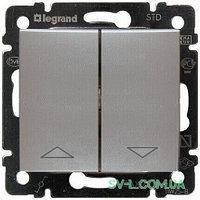 Механизм управление жалюзи 2-клавишного с механической блокировкой алюминий 770104 Legrand Valena