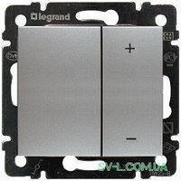 Механизм диммера нажимного универсального 40-600Вт алюминий 770274 Legrand Valena