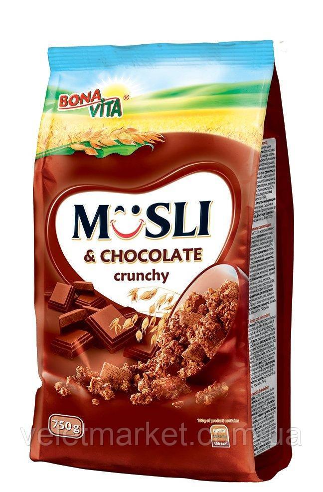 Кранчи BonaVita с шоколадом 750 г
