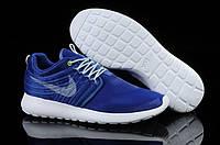 Кроссовки мужские Nike Roshe Run (найк роше ран) бело-синие