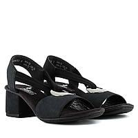 Босоножки женские RIEKER (стильные, на каблуке, модные, удобные)