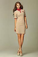 Летнее женское платье Николь бежевое польского бренда Nife