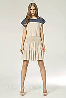 Модное летнее женское платье Кетти бежевое польского бренда Nife