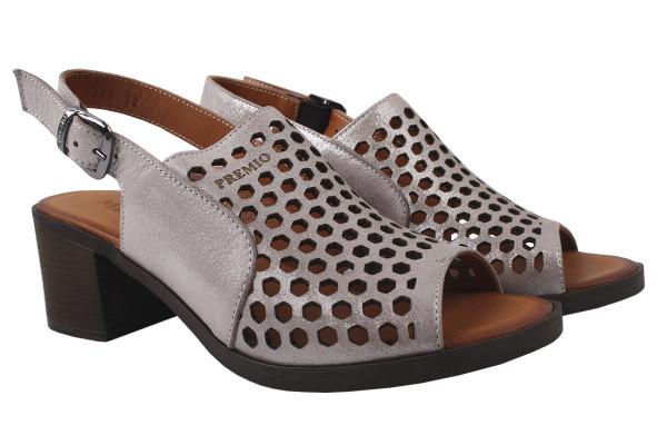 Босоножки , туфли женские на устойчивом каблуке Molly Bessa натуральный сатин, цвет серебро