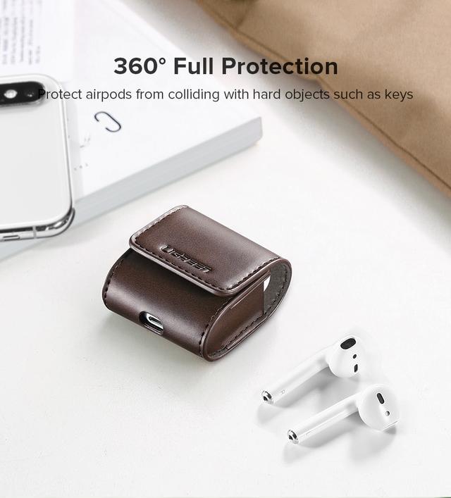 Кожаный кейс-чехол для наушников AirPods Ugreen Case Cover for Apple AirPods LP170 60516 Коричневый