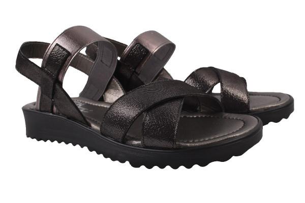 Босоножки , сандали женские Grossi натуральный сатин, цвет черный