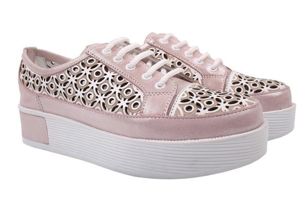 Туфли комфорт Phany натуральный сатин, цвет розовый