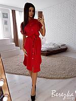 Платье - рубашка свободного кроя с разрезами по бокам 66PL2698, фото 1