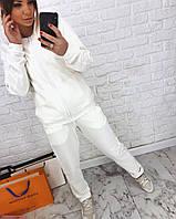 Женский спортивный костюм с белыми лампасами и молнией 3SP627, фото 1