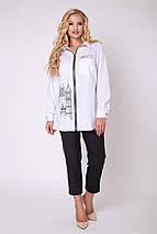 Женская  рубашка с на молнии больших размеров (Денди lzn), фото 2