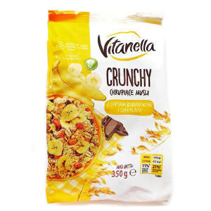 Crunchy Vitanella c бананом и шоколадом, 350 г
