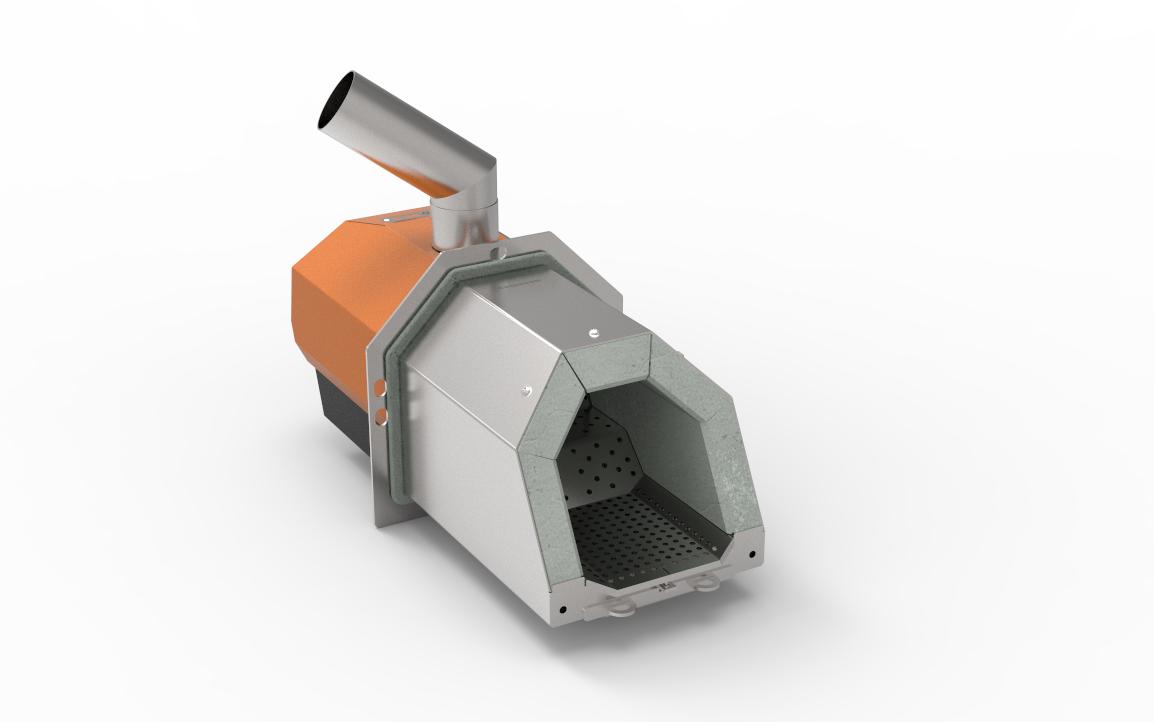 Пелетні пальник факельного типу серії OXI Ceramik + (ОКСІ Керамік плюс) 40кВт