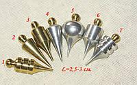 Маятники для биолокации набор 7 штук (латунь, дюраль)