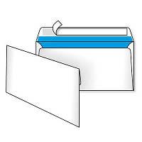 Конверт E-65 (220*110), белый, СКЛ, 0+1, кл. прямой