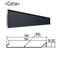 "Фасадные панели ""Сити"" PE 25 мк RAL 9006 металлик Китай 0,4 мм"