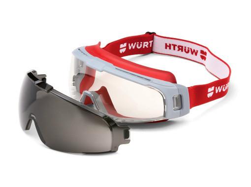 Защитные очки Scorpius в комплекте с серой линзой Wurth