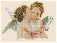 Набор для вышивания крестиком Ангелы любви. Размер: 30*23 см