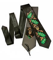 """Атласный галстук с вышивкой """"Дубодан"""""""