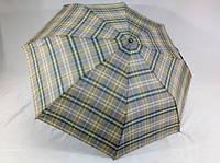 Зонт мужской в клетку полуавтомат 8 спиц цвет светло - серый