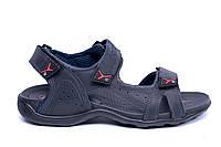 Мужские кожаные сандалии Ecco Flex Zone Tracking  Blue (реплика), фото 1