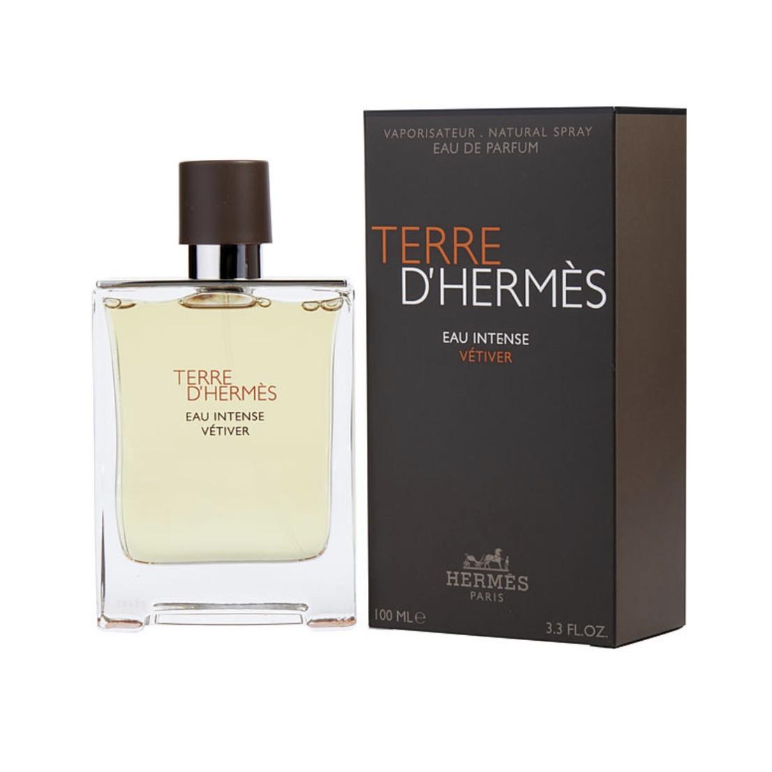 Мужские духи HERMES Terre D'Hermes Eau Intense Vetiver 100ml парфюмированная вода, цитрусовый древесный аромат