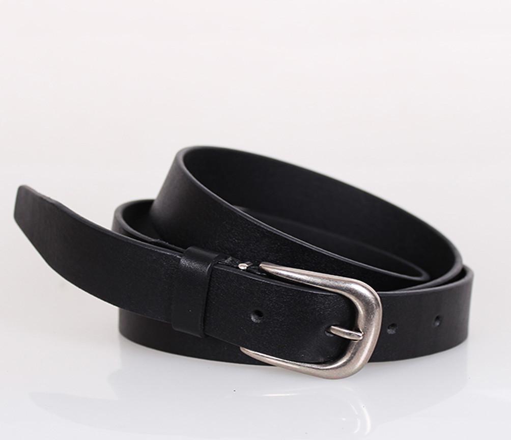 Женский кожаный ремень Dovhani MW682499-10-555 125 см Черный