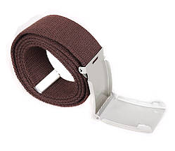 Мужской текстильный ремень Dovhani YK0035-2704-555 115 см Коричневый, фото 3