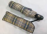 Мужской зонт синий в клетку  полуавтомат 8 спиц, фото 3