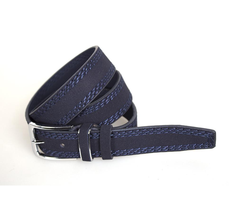 Мужской ремень Dovhani DH3503-3BLUE-555 115 см Синий