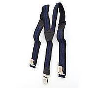 Подтяжки мужские Dovhani P001-5BLWBLUE-555 Черные-Синие