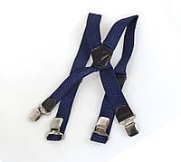 Подтяжки мужские Dovhani P003-3DBLUE-555 Синие, фото 1
