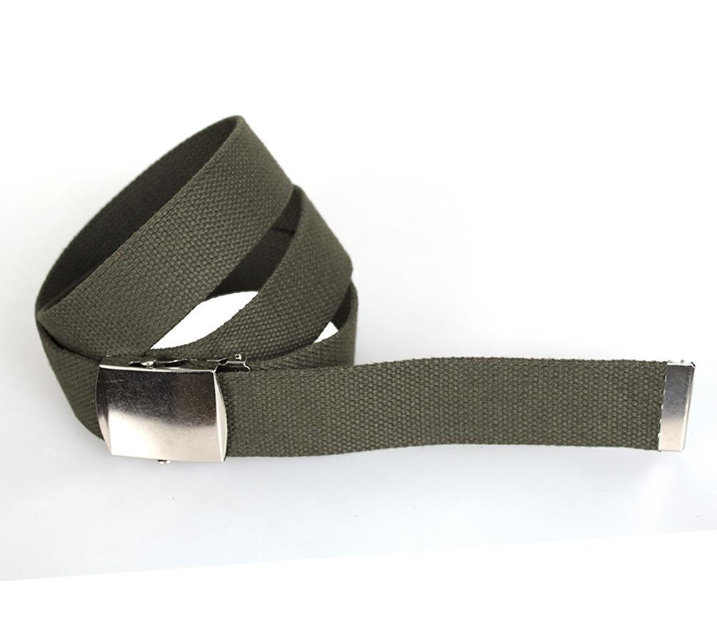 Мужской текстильный ремень Dovhani DH3503-11GREEN-555 115-130 см Зеленый
