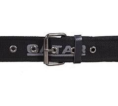 Мужской текстильный ремень Gatar E5698-16GBLACK-555 115-130 см Черный, фото 2