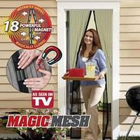 Москитная сетка на дверь Magic Mesh - прохладно в доме без комаров и мух!!!
