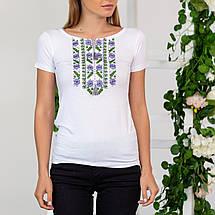 Гладь вышивка на футболках - Цветы, фото 2