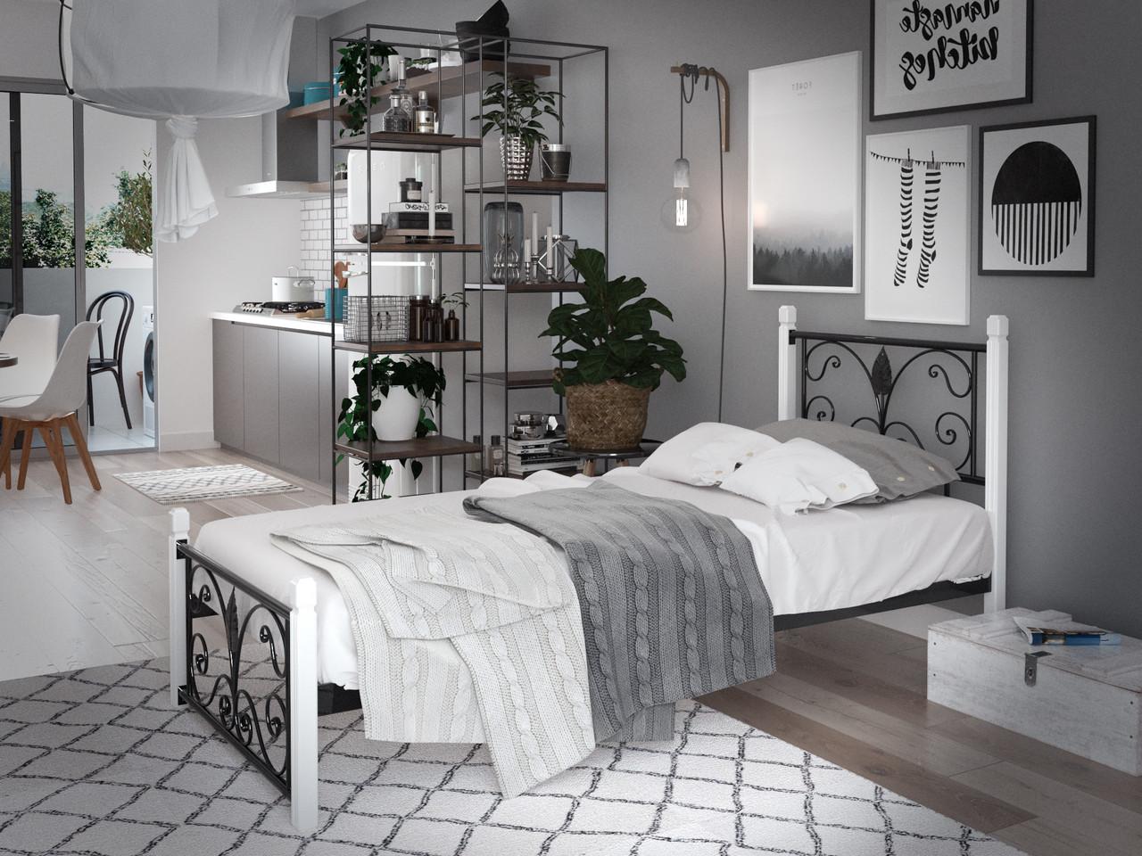 Кровать Крокус Мини на деревянных ногах
