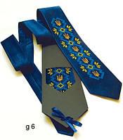 """Атласный галстук с вышивкой """"Слава"""""""