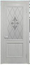 Двери INTERIA I-012.S01, полотно, шпон, срощенный брус сосны