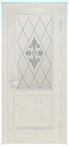 Двері INTERIA I-012.S01, полотно+коробка+1 до-кт наличників, шпон, зрощений брус сосни, фото 2