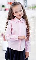Школьная блузка классическая  со скрытой застежкой мод. 2001 розовая, фото 1