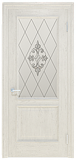 Двери INTERIA I-012.S01, полотно+коробка+2 к-кта наличников+добор 90 мм, шпон, срощенный брус сосны , фото 3