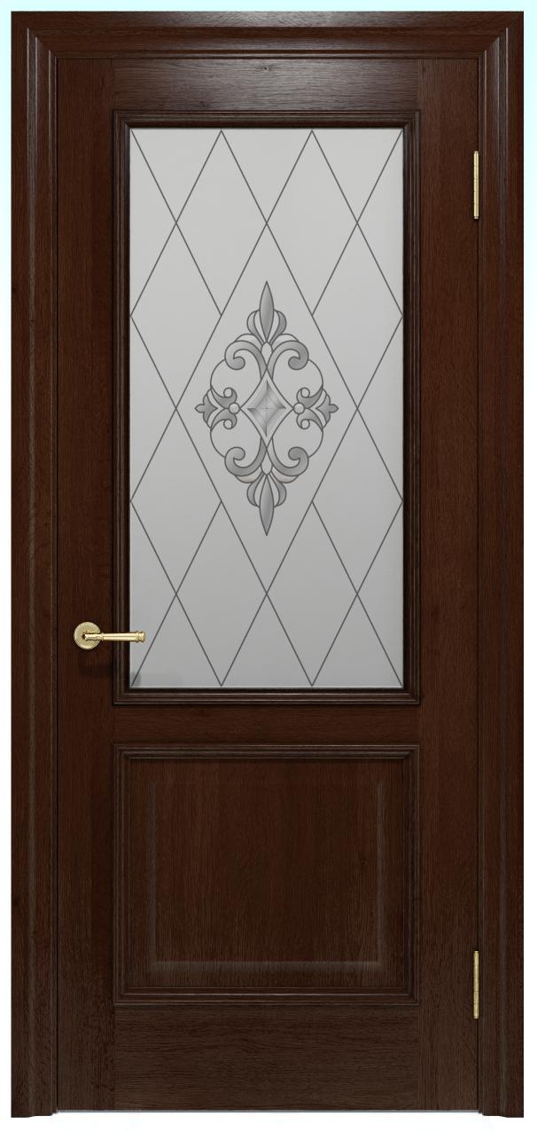 Двери INTERIA I-012.S01, полотно+коробка+2 к-кта наличников+добор 90 мм, шпон, срощенный брус сосны