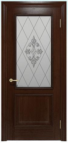Двери INTERIA I-012.S01, полотно+коробка+2 к-кта наличников+добор 90 мм, шпон, срощенный брус сосны , фото 2