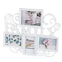 "Мультирамка ""Family"" на 4 фото, фотоколлаж"