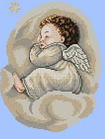 Набор для вышивания крестиком Ангелок. Размер: 16*21 см