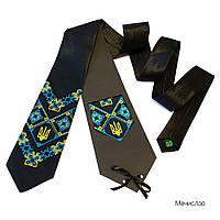 """Атласный галстук с вышивкой """"Мечислав"""""""