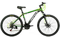 Велосипед спортивный impuls 26 MOTION-NEW чёрный с салатовым, фото 1