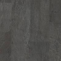 Виниловая клеевая плитка Quick Step LIVYN AMBIENT GLU PLUS AMGP40035 Сланець чорний, фото 1
