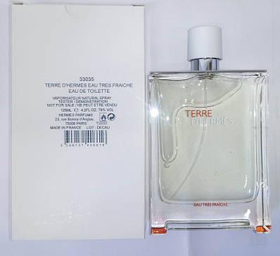 Чоловічі оригінальні парфуми HERMES Terre d'hermes Eau Tres Fraiche 75ml ТЕСТЕР, свіжий цитрусовий деревне