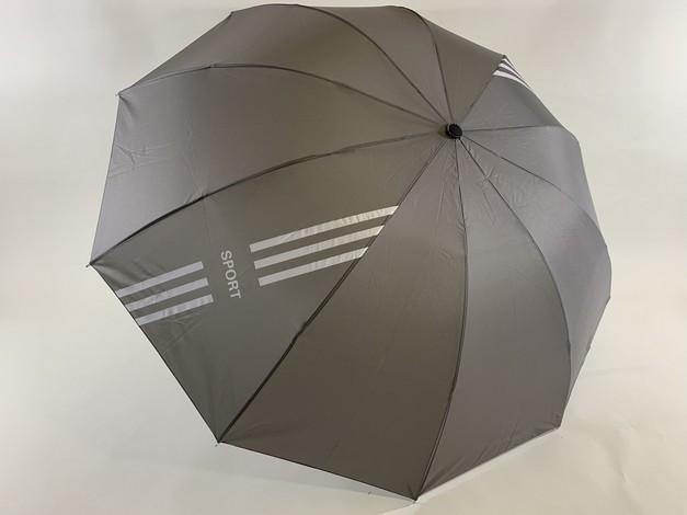 "Зонт з выворотным механізмом складання ""SPORT"" 10 спиць колір сірий"